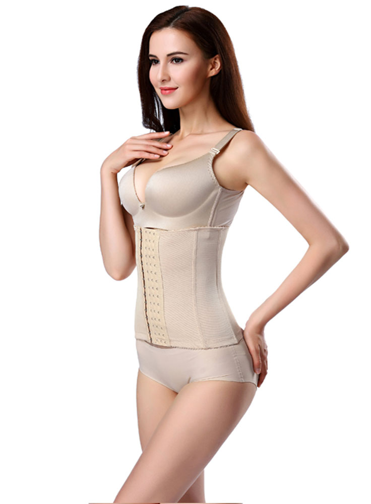 Sculpting 6 Rows Hook Closure 7 Bones Nude Corset ..