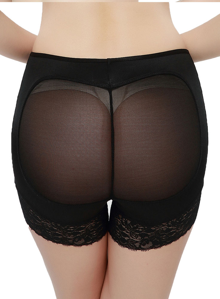 Black Mesh Back Bottom Lifting Knickers
